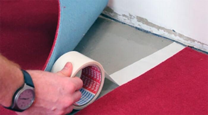 крепление коврового покрытия на скотч